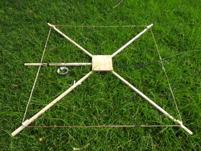 11 m Band Cobwebb antenna centred at 27.500 MHz: Ready to test